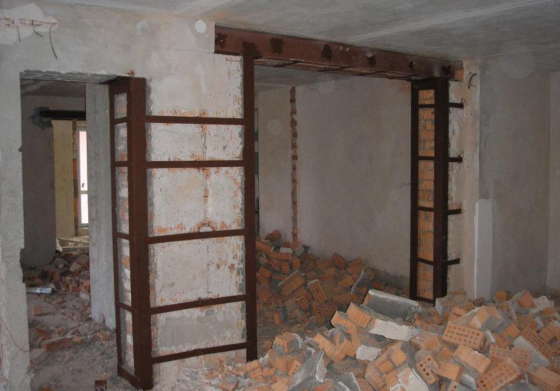 Демонтаж несущих стен квартиры