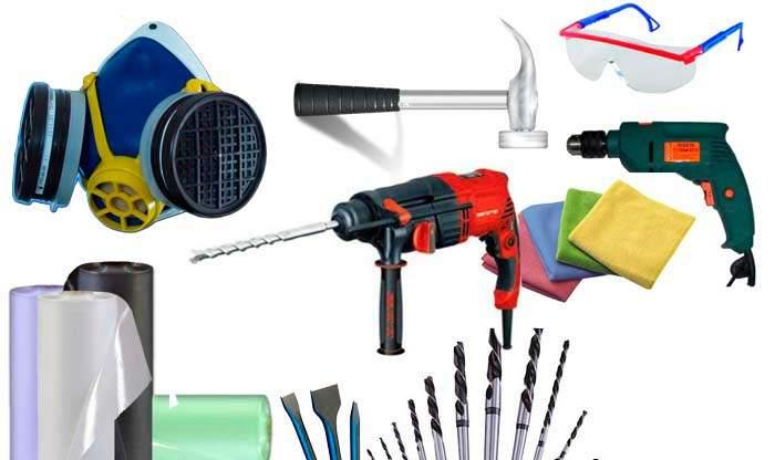 Инструменты для демонтажа стен