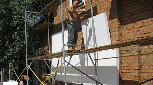 отделка фасадов частного дома фото