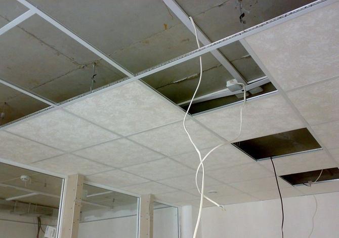 Как монтировать потолок Армстронг